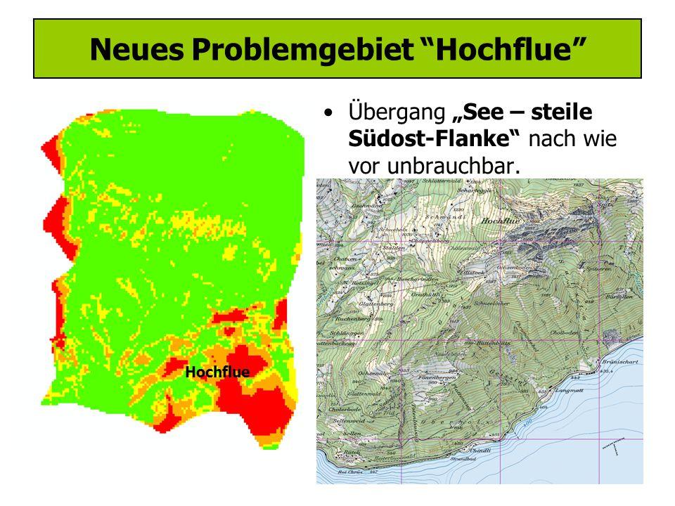 """Neues Problemgebiet Hochflue Übergang """"See – steile Südost-Flanke nach wie vor unbrauchbar."""