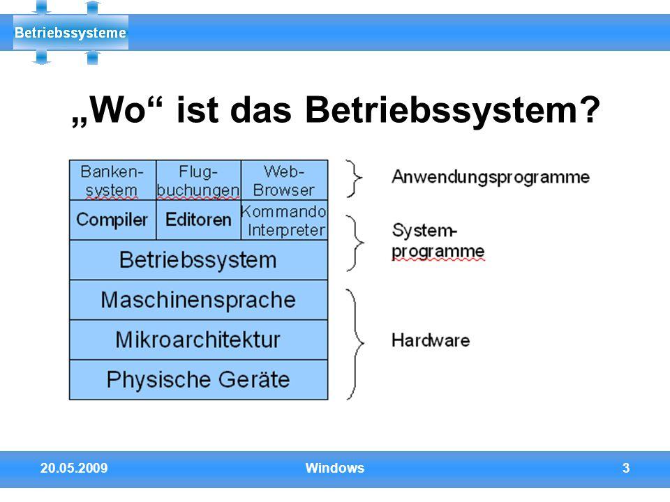 "20.05.2009Windows3 ""Wo"" ist das Betriebssystem?"