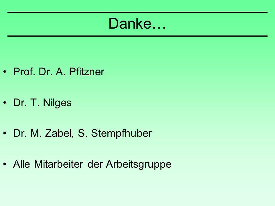 Prof. Dr. A. Pfitzner Dr. T. Nilges Dr. M. Zabel, S. Stempfhuber Alle Mitarbeiter der Arbeitsgruppe Danke…