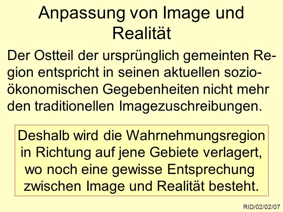"""Kognitive Dissonanzbewältigung durch """"Grenzverschiebung RID/02/02/08 Dieses Modell erklärt auch den Einfluss der Wohndauer auf das kognitive Raum- Konzept von Lehen."""
