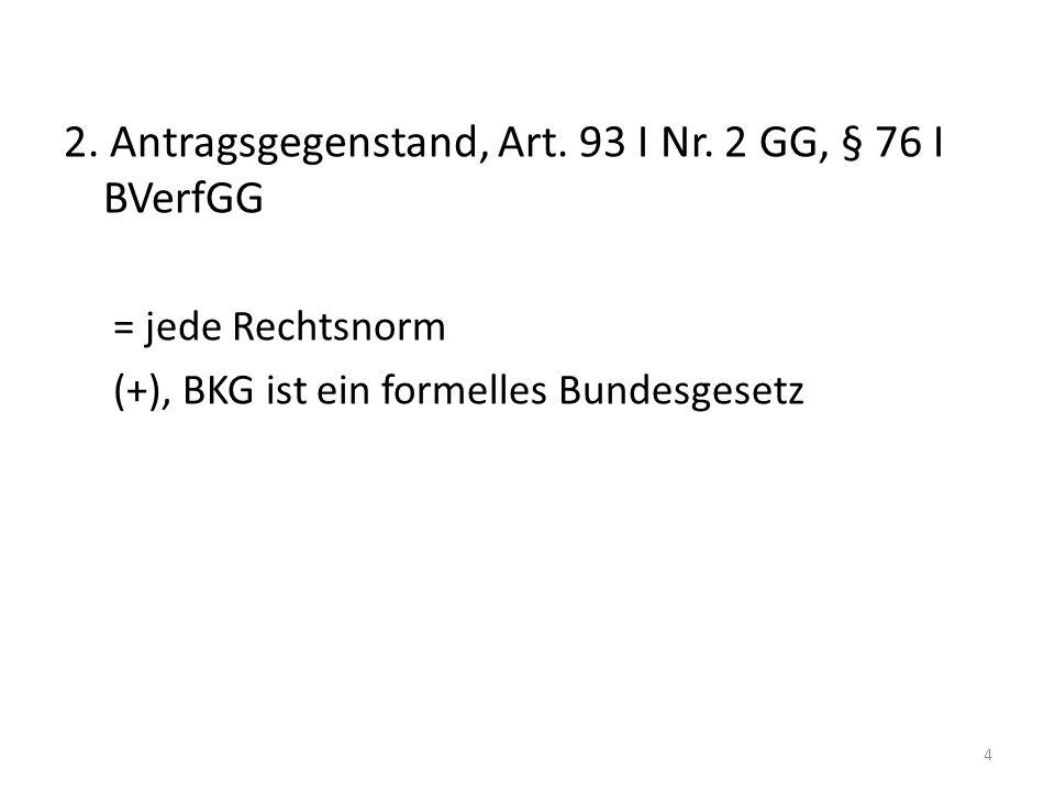 3.Antragsgrund, Art. 93 I Nr. 2 GG, § 76 I Nr.
