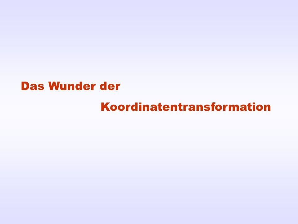 Das Wunder der Koordinatentransformation