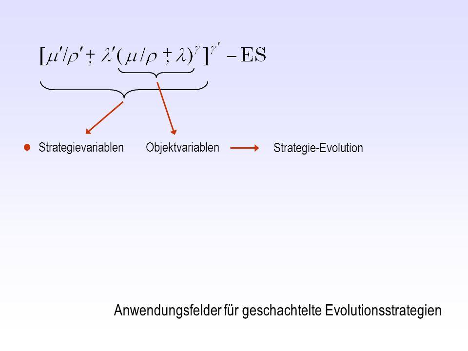 Strategievariablen Objektvariablen Strategie-Evolution Anwendungsfelder für geschachtelte Evolutionsstrategien