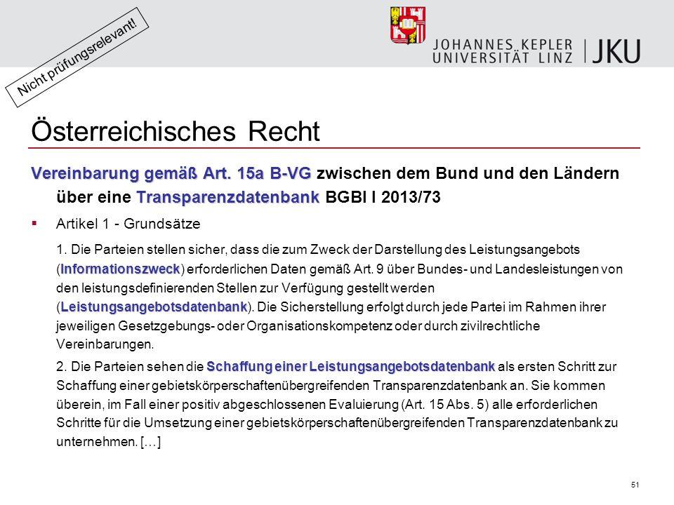 51 Österreichisches Recht Vereinbarung gemäß Art.