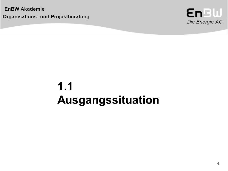 Die Energie-AG.EnBW Akademie Organisations- und Projektberatung 35 Strategie befasst sich......