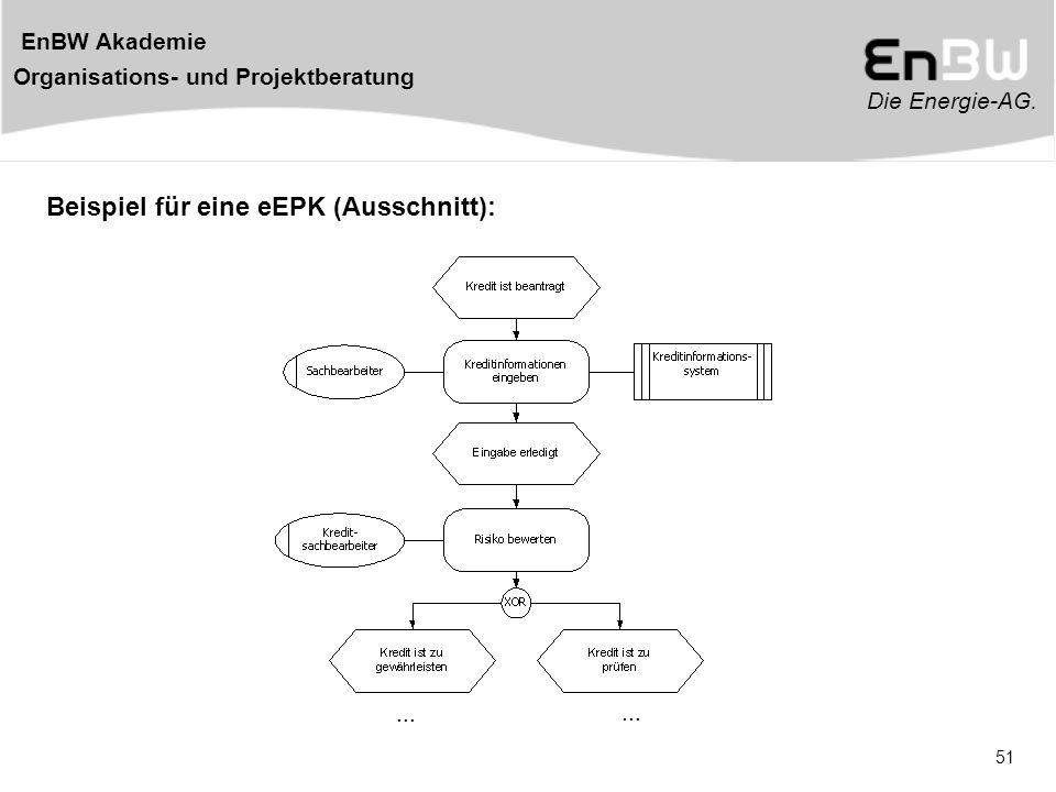 Die Energie-AG. EnBW Akademie Organisations- und Projektberatung 51 Beispiel für eine eEPK (Ausschnitt):...