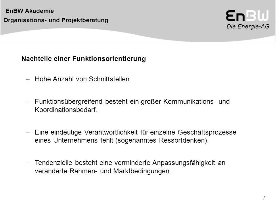 Die Energie-AG.EnBW Akademie Organisations- und Projektberatung 38 Zeitplan *.