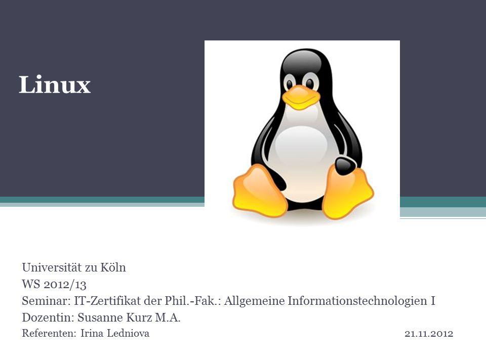 Universität zu Köln WS 2012/13 Seminar: IT-Zertifikat der Phil.-Fak.: Allgemeine Informationstechnologien I Dozentin: Susanne Kurz M.A.