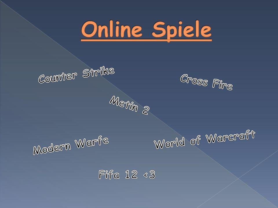  Online-Spiele sind Computerspiele, die online über das Internet gespielt werden.