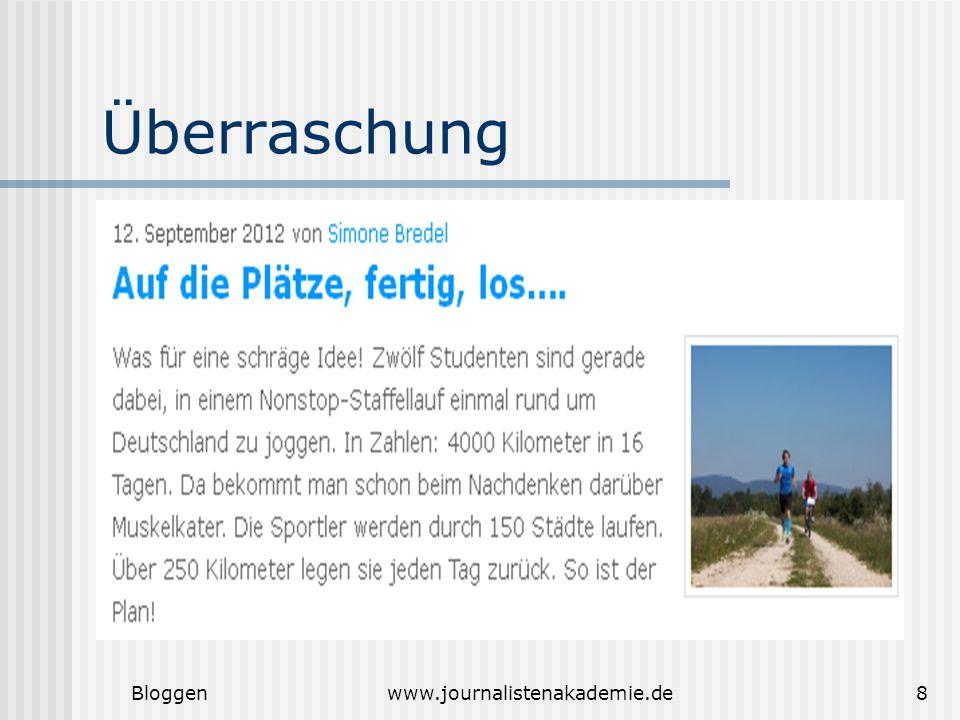 Bloggenwww.journalistenakademie.de8 Überraschung