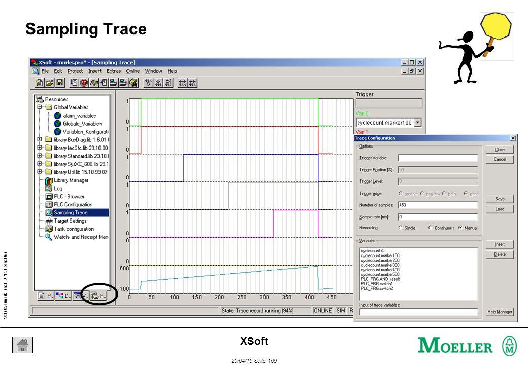 Schutzvermerk nach DIN 34 beachten 20/04/15 Seite 109 XSoft Sampling Trace
