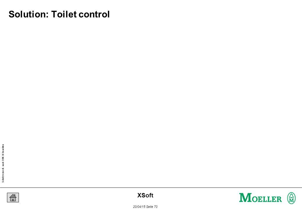 Schutzvermerk nach DIN 34 beachten 20/04/15 Seite 70 XSoft Solution: Toilet control