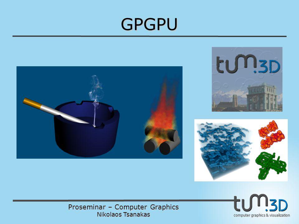 Proseminar – Computer Graphics Nikolaos Tsanakas computer graphics & visualization GPGPU