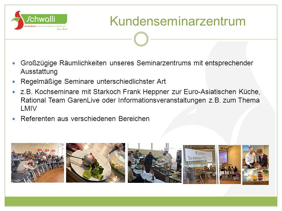 Kundenseminarzentrum Großzügige Räumlichkeiten unseres Seminarzentrums mit entsprechender Ausstattung Regelmäßige Seminare unterschiedlichster Art z.B