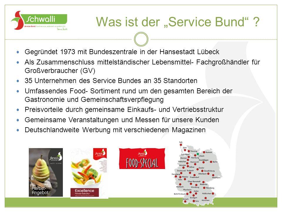 """Was ist der """"Service Bund"""" ? Gegründet 1973 mit Bundeszentrale in der Hansestadt Lübeck Als Zusammenschluss mittelständischer Lebensmittel- Fachgroßhä"""