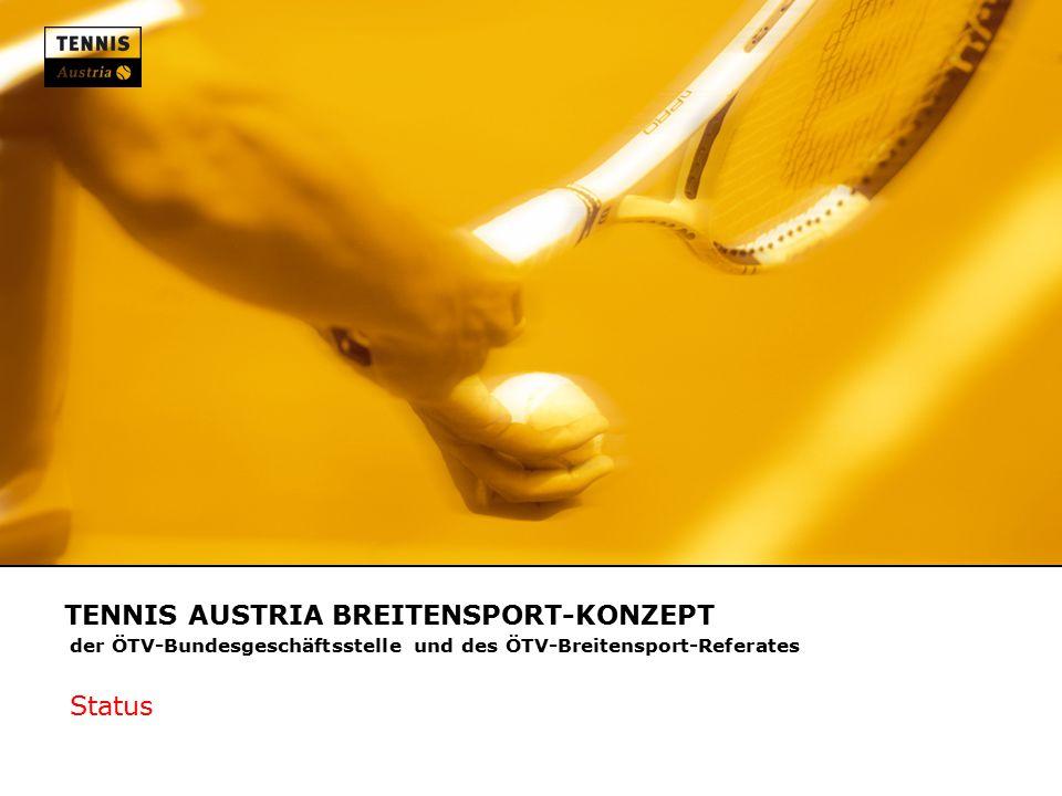 TENNIS AUSTRIA BREITENSPORT-KONZEPT der ÖTV-Bundesgeschäftsstelle und des ÖTV-Breitensport-Referates Status