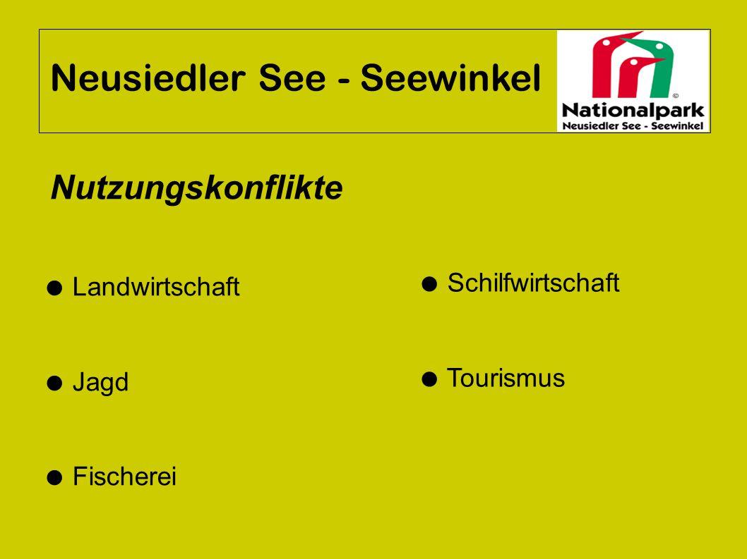 Neusiedler See - Seewinkel ● Landwirtschaft ● Jagd ● Fischerei ● Schilfwirtschaft ● Tourismus Nutzungskonflikte