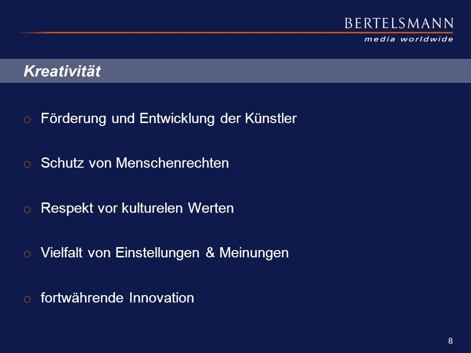 """Unternehmergeist o Schlüsselwort """"Dezentralisation o Bertelsmann Geschäftsführer handeln als Unternehmer o weitreichende Unabhängigkeit o umfassende Verantwortung für die Leistung ihrer Firmen o Handeln im Interesse der Einzelfirma als auch des Gesamtunternehmens 9 PowerPoint Master_Beamer_eng.pot"""