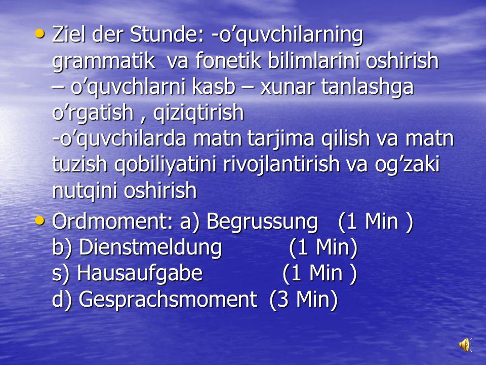 "Nemis tili Nemis tili Nemis tili fani o'qituvchisi Iskandarova Rohatoyning ""Qual der Wahl "" mavzusidan dars ishlanmasi. Nemis tili fani o'qituvchisi I"