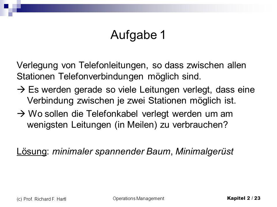 Operations Management Kapitel 2 / 23 (c) Prof.Richard F.