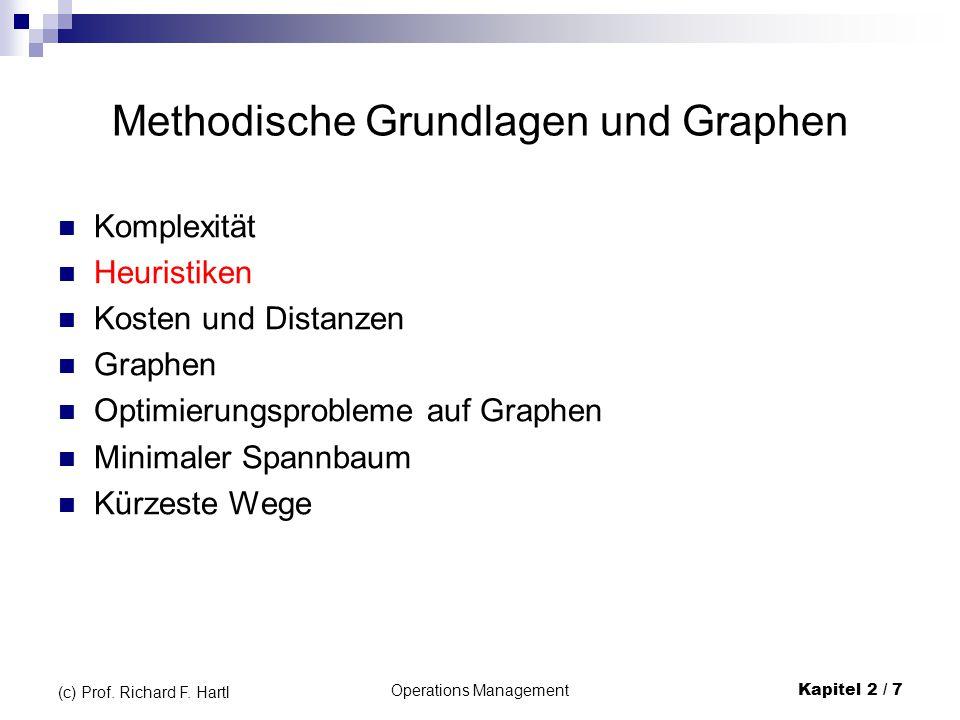 Beispiele für Graphen Ungerichteter Graph Gerichteter Graph (Digraph) Gemischter Graph Operations Management Kapitel 2 / 18 (c) Prof.