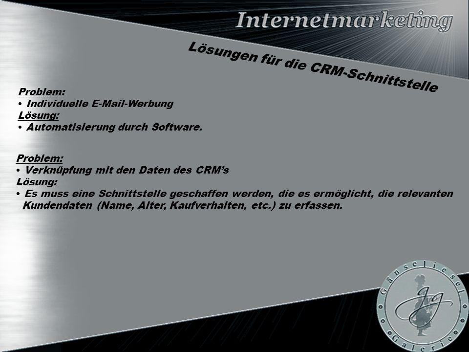 Problem: Individuelle E-Mail-Werbung Lösung: Automatisierung durch Software.