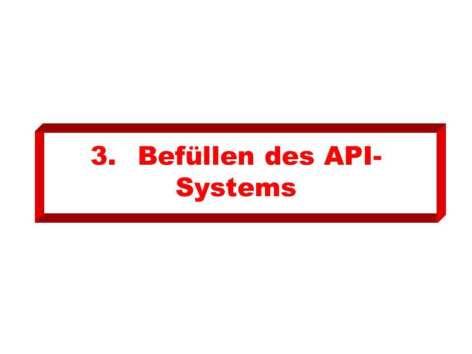 3.Befüllen des API- Systems
