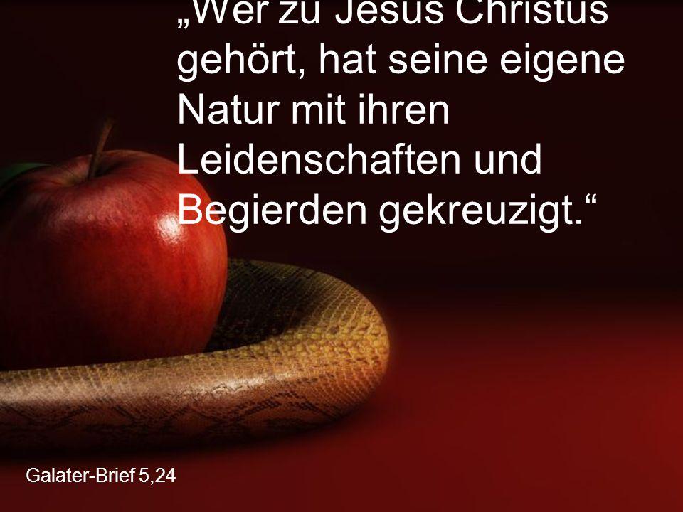 """Galater-Brief 5,24 """"Wer zu Jesus Christus gehört, hat seine eigene Natur mit ihren Leidenschaften und Begierden gekreuzigt."""""""