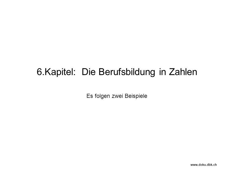 6.Kapitel: Die Berufsbildung in Zahlen Es folgen zwei Beispiele www.doku.dbk.ch