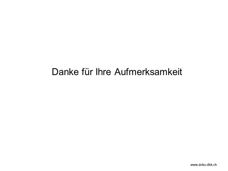 Danke für Ihre Aufmerksamkeit www.doku.dbk.ch