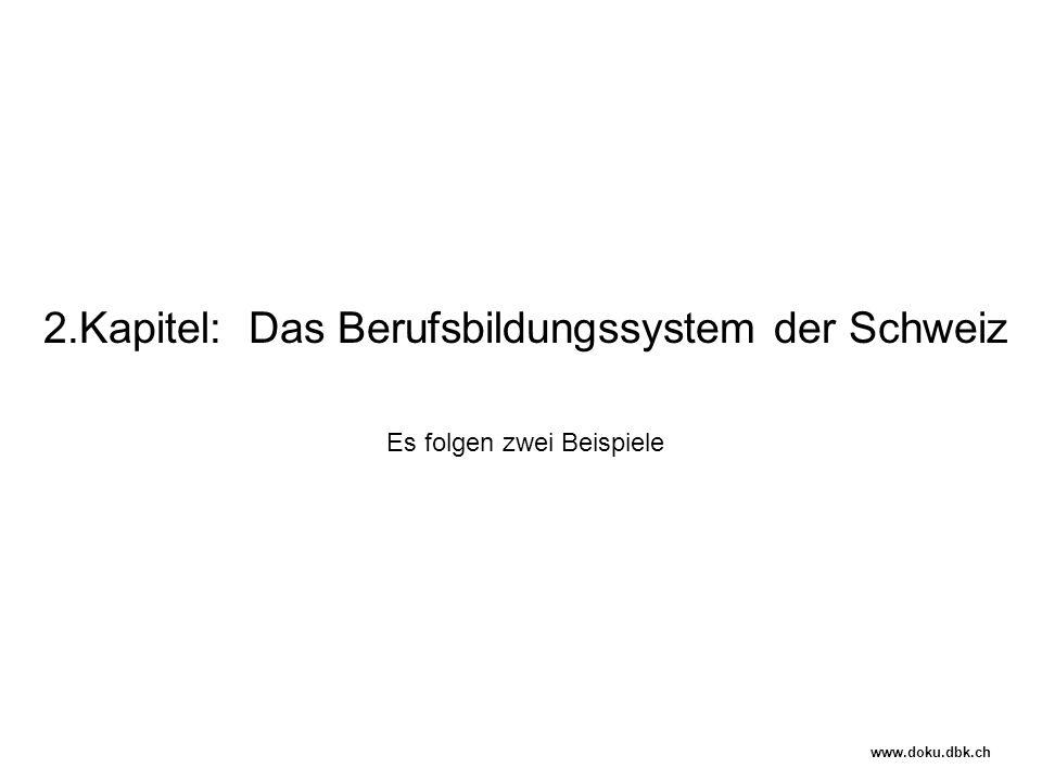 2.Kapitel: Das Berufsbildungssystem der Schweiz Es folgen zwei Beispiele www.doku.dbk.ch