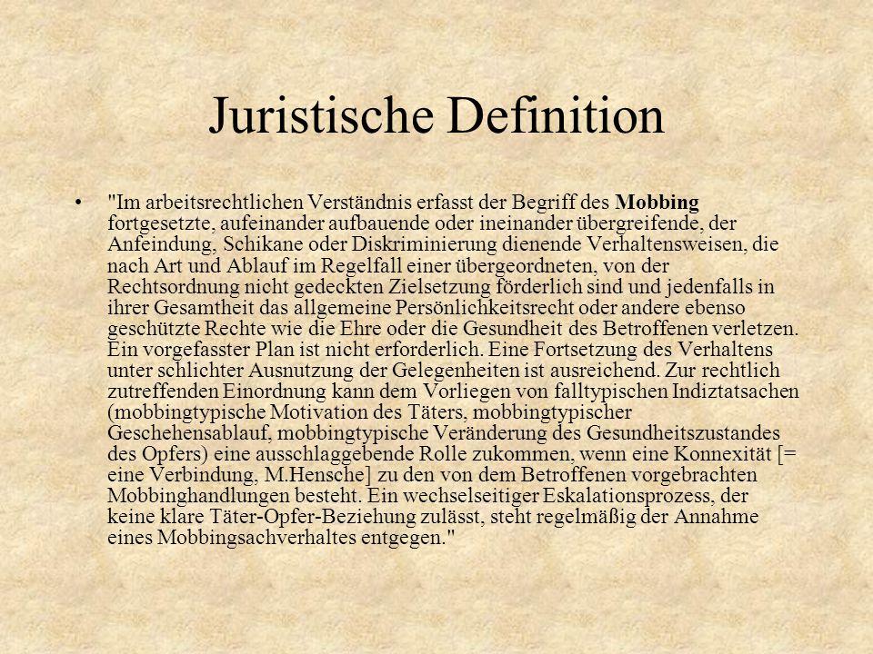 Juristische Definition