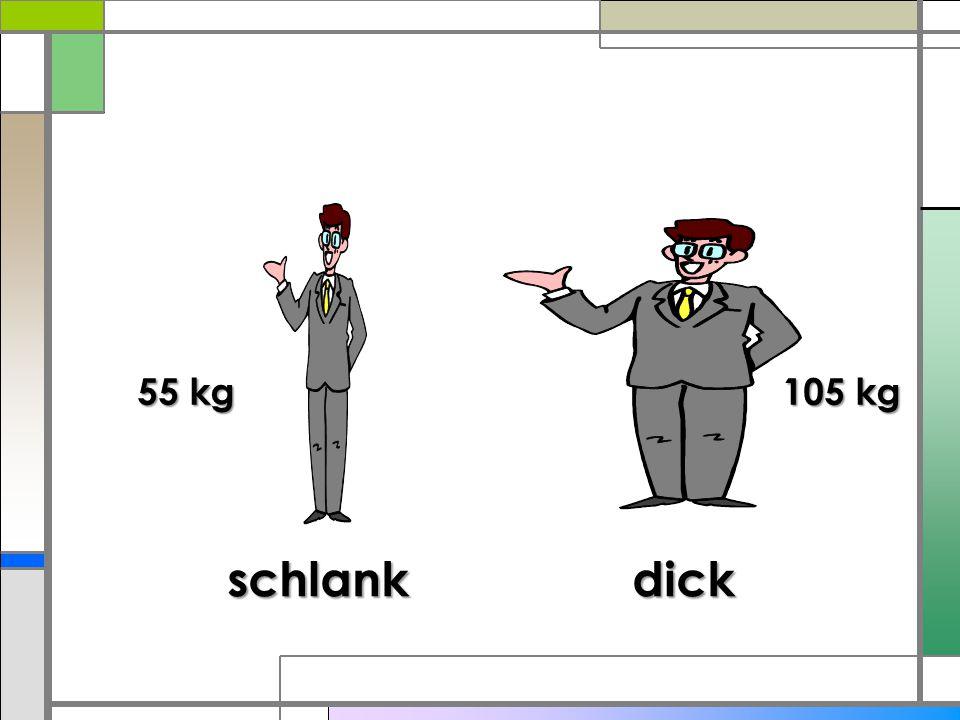 Das ist ein Mann.Er ist klein und dick. Er ist alt.