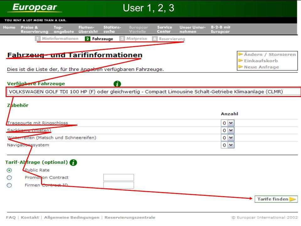 User 1, 2, 3