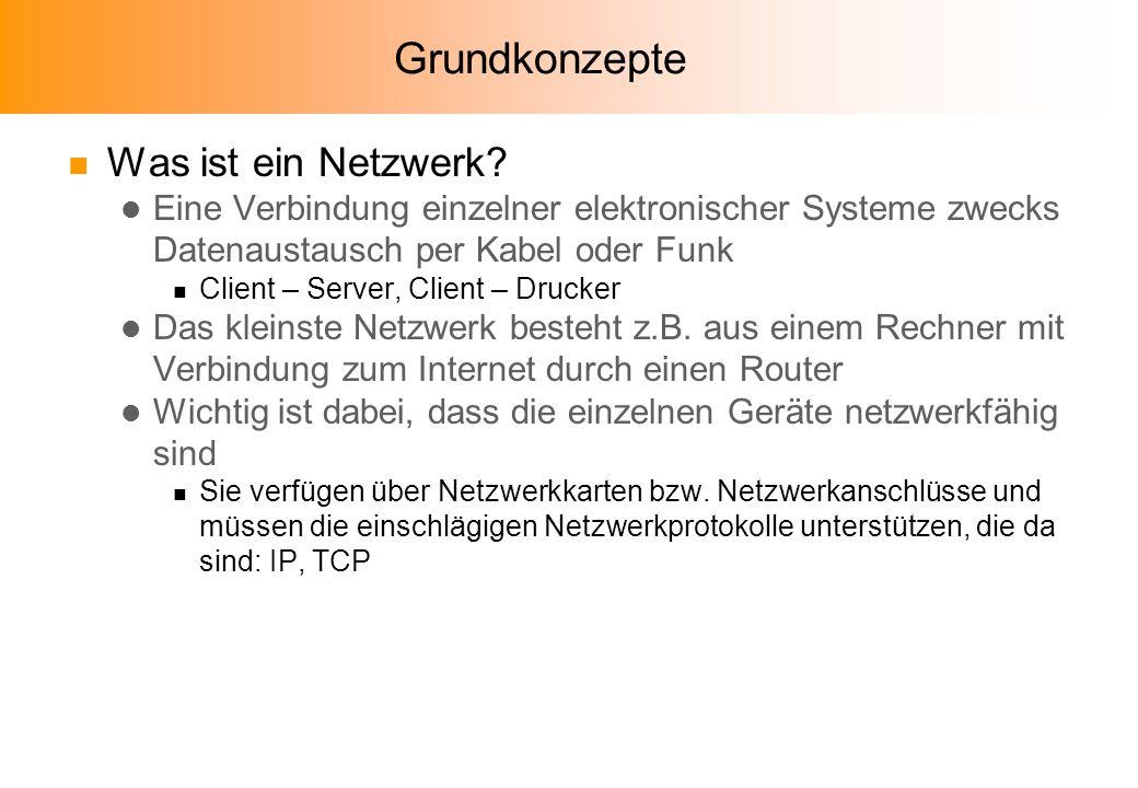Grundkonzepte n Was ist ein Netzwerk.