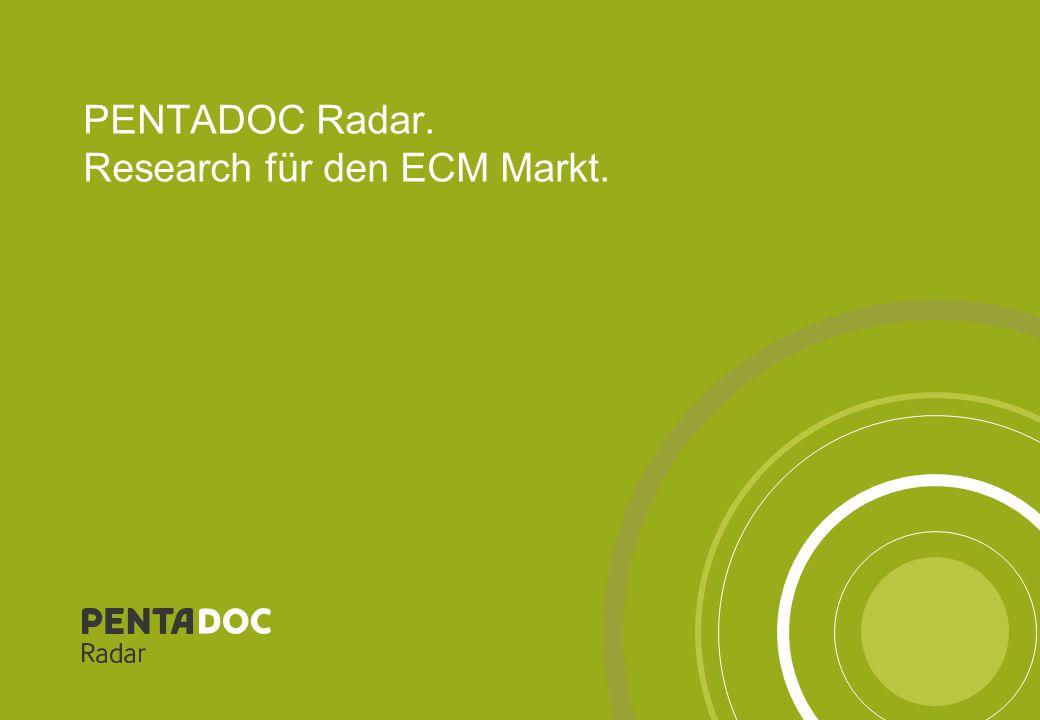 PENTADOC Radar. Research für den ECM Markt.