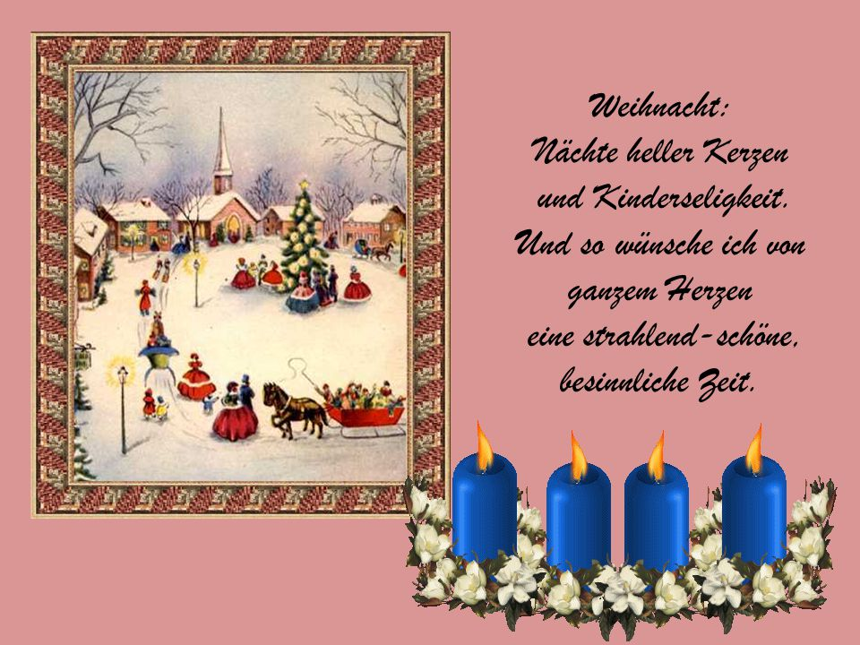 Ich wünsche frohe Feiertage, das ist doch klar und ohne Frage.