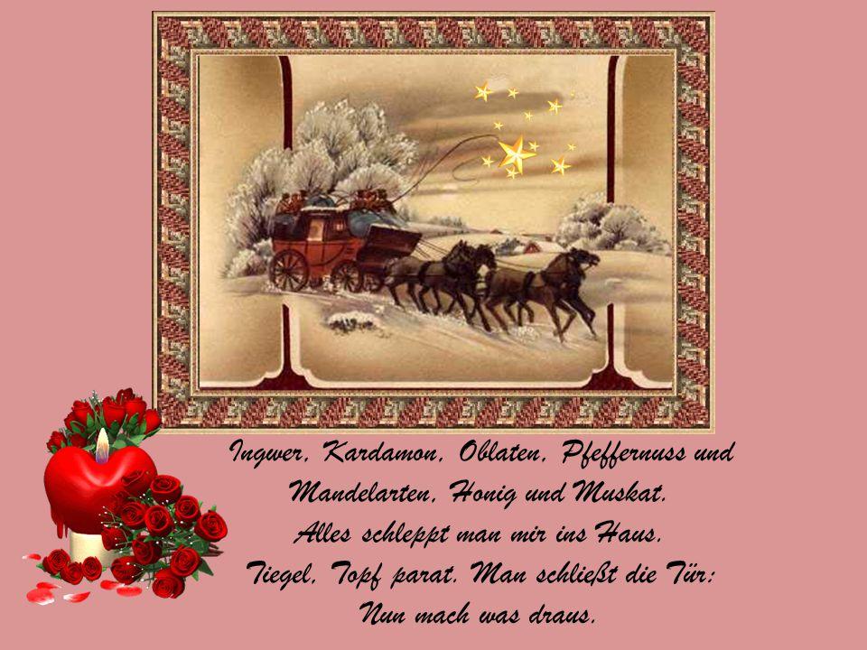 Weihnacht: Nächte heller Kerzen und Kinderseligkeit. Und so wünsche ich von ganzem Herzen eine strahlend-schöne, besinnliche Zeit.