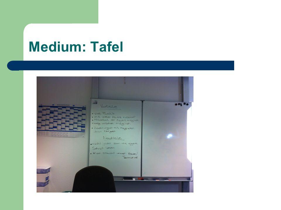Medium: Tafel