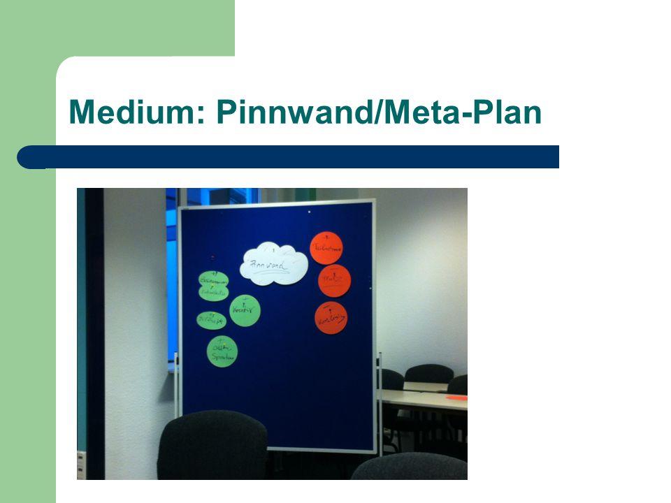Medium: Pinnwand/Meta-Plan