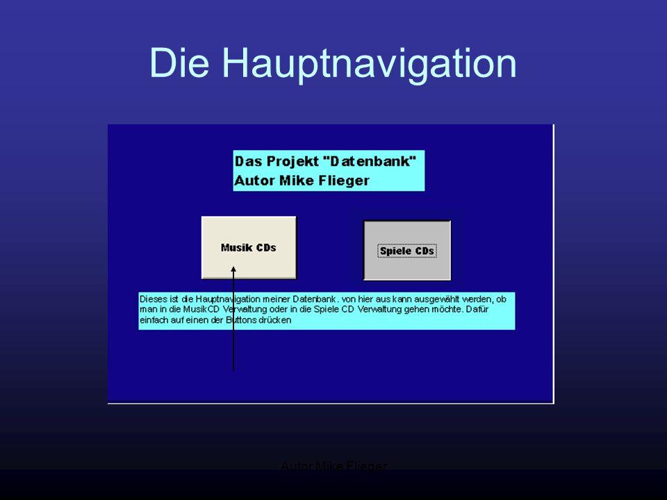 Autor Mike Flieger Die Hauptnavigation