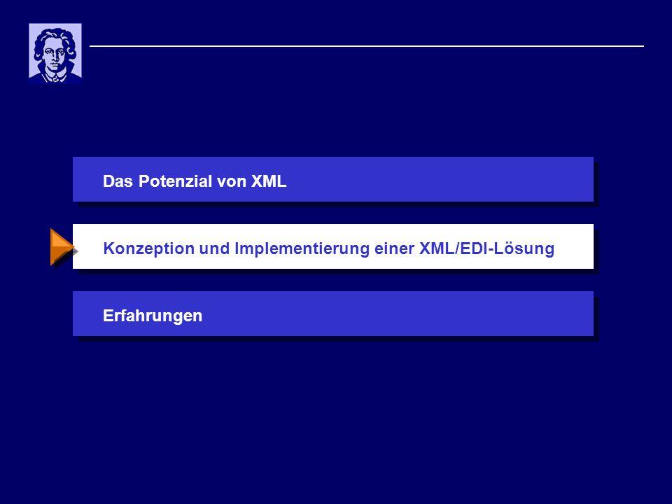 Das Potenzial von XMLErfahrungenKonzeption und Implementierung einer XML/EDI-Lösung