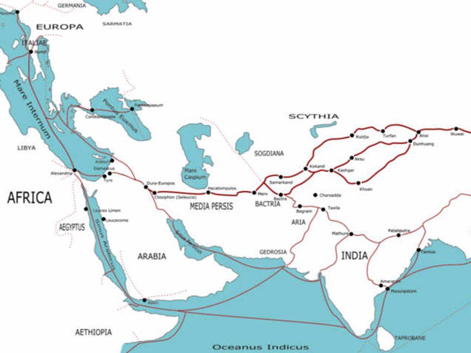 Die Seide wurde seit Jahrhunderten über die berühmte Seidenstrasse nach Europa gebracht