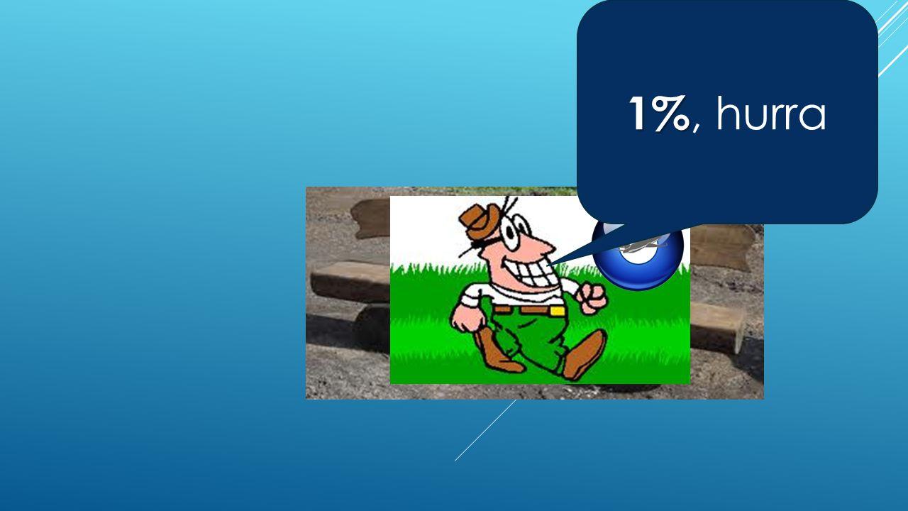 1% 1%, hurra