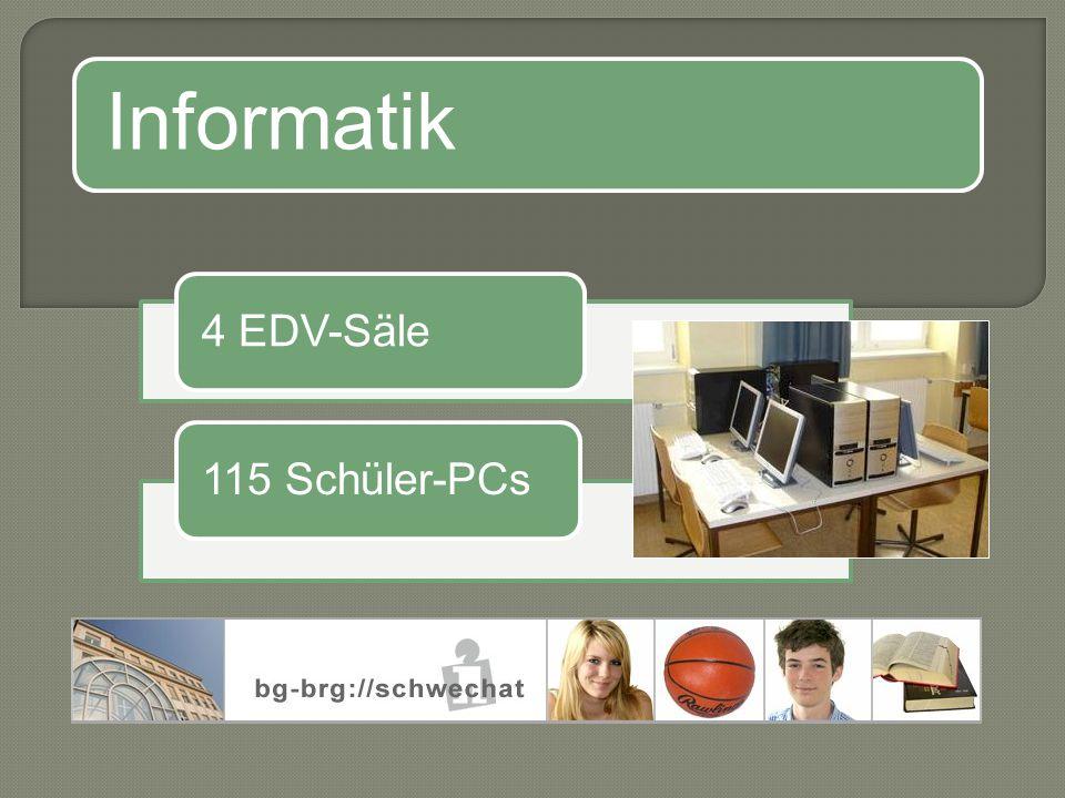 Informatik 4 EDV-Säle115 Schüler-PCs