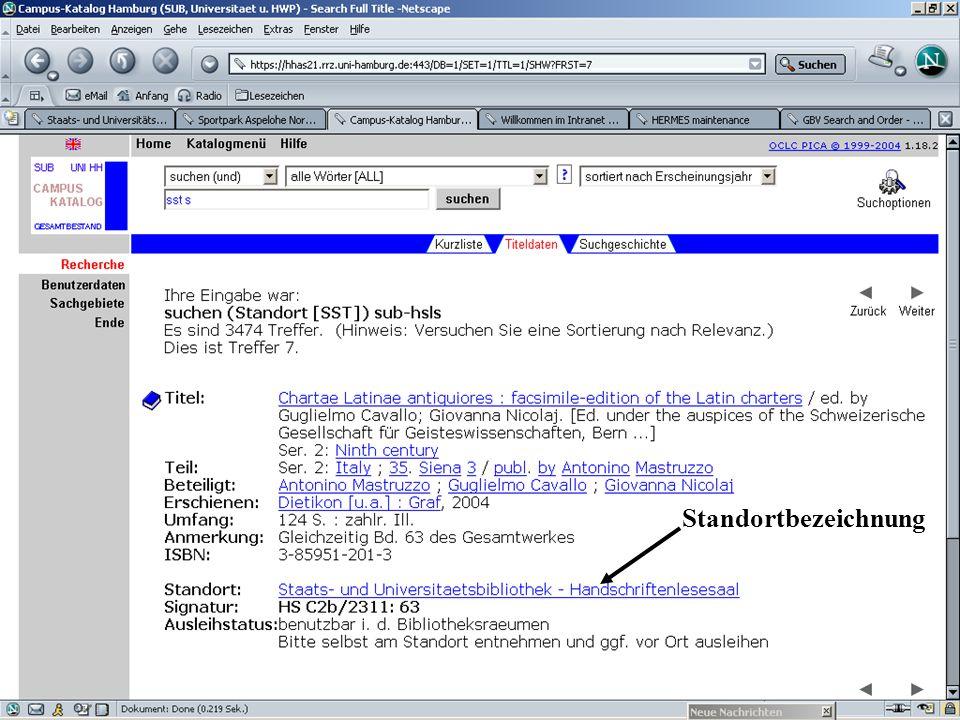 Hinter Neuerwerbungen liegt ein php-Script, eine Variable mit der Fachbenennung wird mitgegeben.
