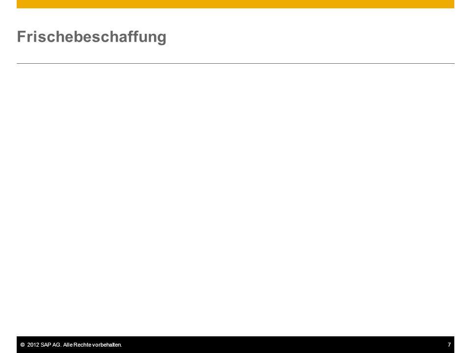 ©2012 SAP AG. Alle Rechte vorbehalten.7 Frischebeschaffung