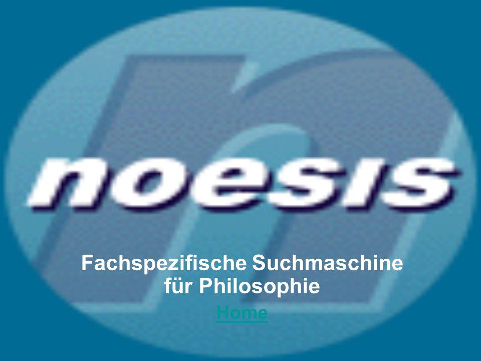 Fachspezifische Suchmaschine für Philosophie Home