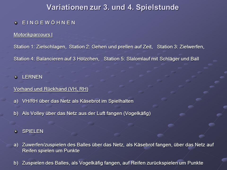 Variationen zur 3. und 4.