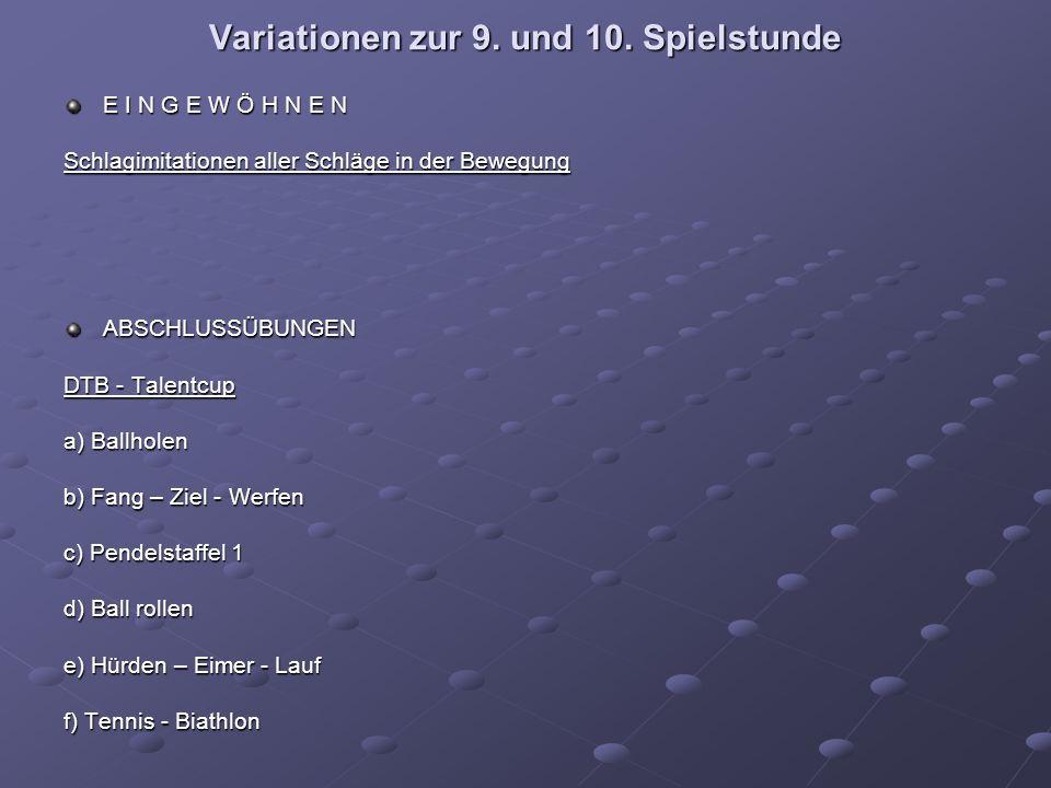 Variationen zur 9. und 10.